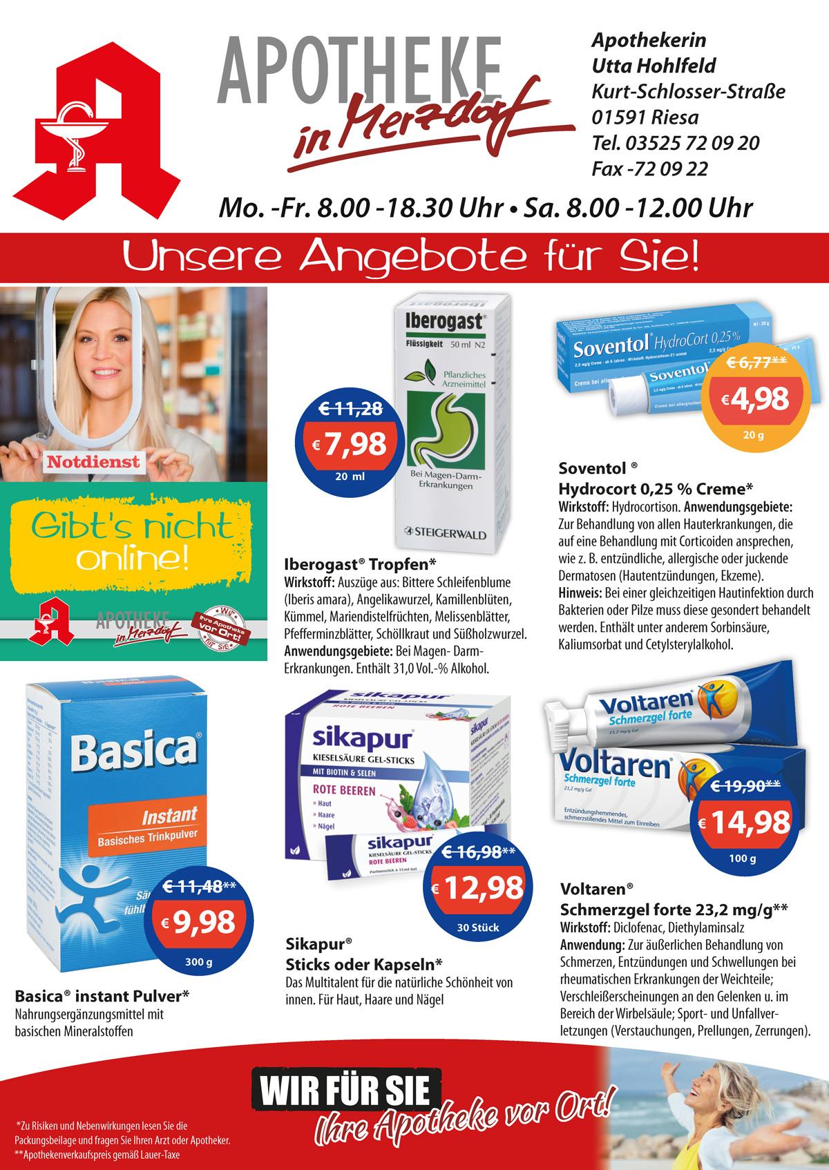 Aktuelle Angebote der Apotheke in Merzdorf